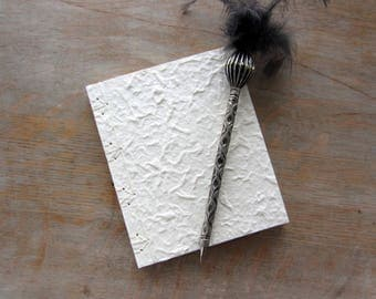 Custom Softcover Journal or Sketchbook, 6x5 inches, White Mulberry, unlined pages