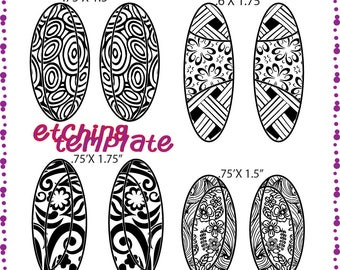 Earrings Etching patterns Instant Digital Download DT-patches-1