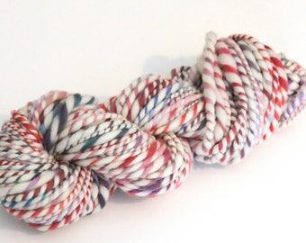 Handspun Yarn Hand Dyed Merino 120g 80 Yards Chunky