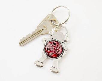 Robot Keychain Circuit Board - Robot Key Fob - Geeky Key Chain - Robotics Gift - Engineer Keychain
