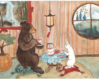 RESERVED - Print - Tea with Bear