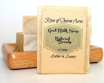 Natural Beauty - A Dead Sea Salt Soap made with Goat Milk
