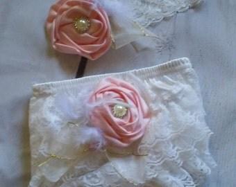 newborn bloomer set. newborn ruffle diaper cover. newborn headband. newborn photo outfit. baby bloomers. newborn baby girl clothes baby girl