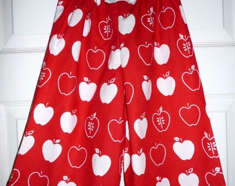 Sample SALE - Will fit Size 3T to 4T - Ready to MAIL - Samurai PANTS -  Apples - by Boutique Mia