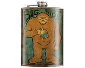 Bigfoot brew - Stainless Steel Flask - 8oz.