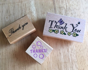 3 Thank You/Thanks stamps