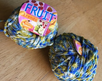 Adriafil Fruit trends - novelty yarn, color 63, 2 full balls, destash