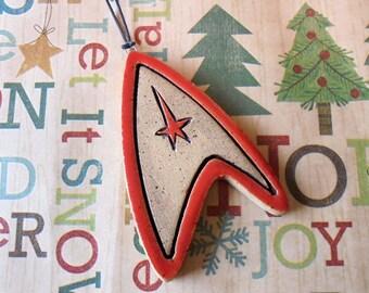 Trek Ornament - Christmas Ornament - Away Mission Red