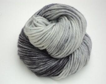 Newsprint, Hand Dyed, Bulky, Yarn, Grey