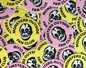 Monsters Outside Fan Club Sticker Pack