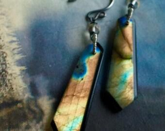 Labradorite & Topaz Earrings