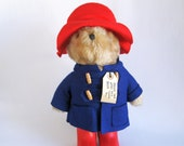 Vintage Paddington Bear Plush Toy Teddy Bear Stuffed Animal 1980s Toy