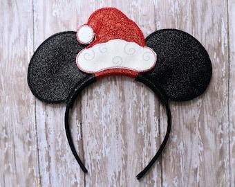 Santa Mouse Ear Headband