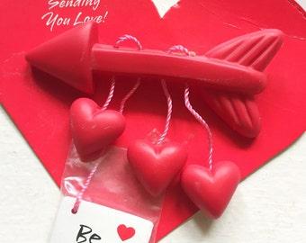 Vintage Hallmark Valentine Red Arrow Heart Lapel Pin Brooch