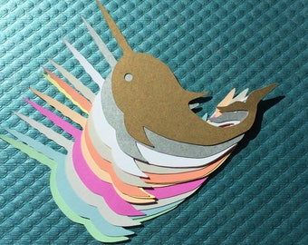 Narwhal Stationery Set of 12 with Envelopes