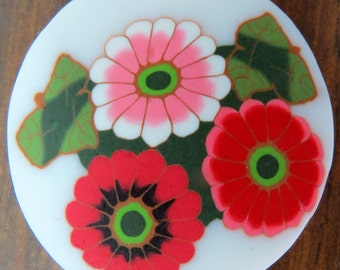 Polymer clay millefiore flowers cane