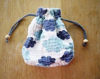 cloud gauze cotton drawstring bag