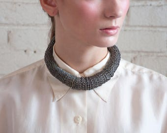 coiled collar necklace / thick organic collar necklace / minimalist collar / 1636a