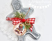 Kit Vintage Gingerbread Man Cookie Cutter Christmas