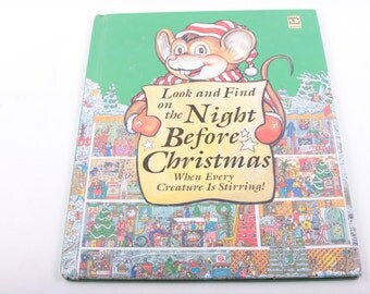 Look and Find, Search and Find, Christmas, The Night Before Christmas, Holidays ~ The Pink Room ~ 161123B