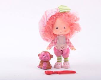 Raspberry Torte, Strawberry Shortcake, Doll, Rhubarb, Monkey, Comb, 1980s ~ The Pink Room ~ 160910