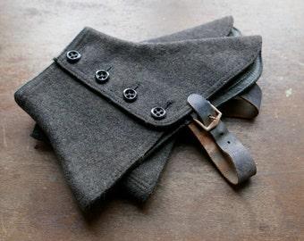 Charcoal Grey Wool Spats