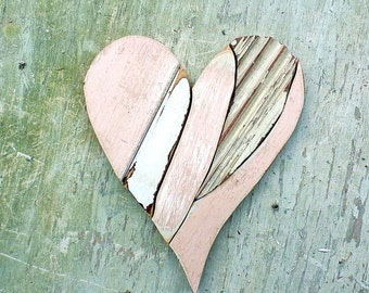 Valentines Heart, Wooden Heart, Reclaimed Wood Heart, Rustic Wall Decor, Recycled Wood Wall Art, Architectural Salvage, Boho Home Decor,