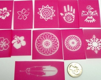 11 Silkscreen sampler kit for polymer clay, paper, fabric, glass, metal and more