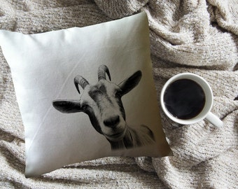funny goat decorative throw pillow
