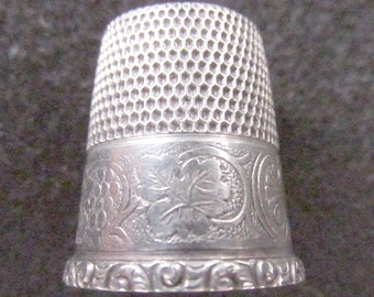 Sterling Silver Thimble Simons  Hallmark size 12