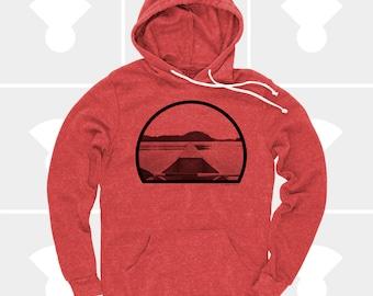 Canoe Men Sweatshirt, Fishing Gift, Gift for Men, Fishing Shirt, Gift for Dad, Kayaking Gift, Pullover Hoodie, Gift for Husband Gift for Son