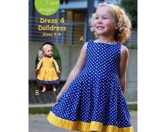 Olive Ann PATTERN - Eazy Peazy Pleats Dress - Sizes 3-8