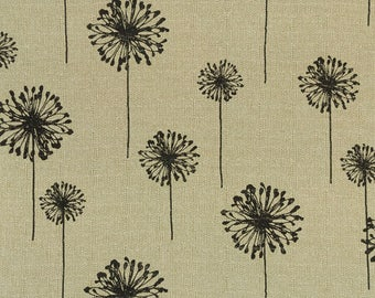 Premier Prints FABRIC - Dandelion Denton - Black Oatmeal