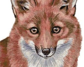 Fox counted cross stitch kit