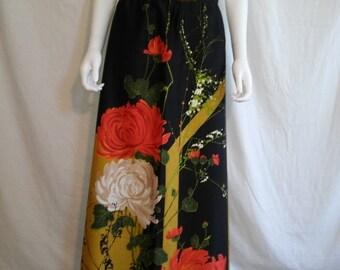 35% off SALE 70's Vintage skirt, floral  long maxi skirt, hippie hippy boho bohemian folk skirt