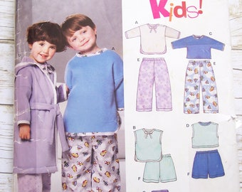 New Look 6313 pajamas and robe sewing pattern unisex sizes 1/2 1 2 3 4