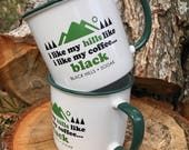 Black Hills Coffee Mug Set - I Like My Hills Like I Like My Coffee Mugs - Black Hills SoDak South Dakota Coffee Mug Set - Oh Geez! Design