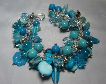 Chunky Gypsy Boho Turquoise Bracelet