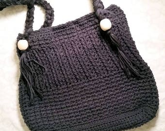 Handmade Crocheted Boho Beach Bag Tote