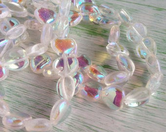 Crystal AB Heart Beads Glass Czech 8mm Wedding DIY Rosary
