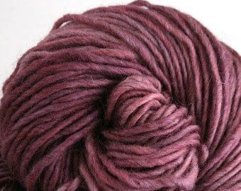 Brunswick Hand Dyed chunky weight 70/30 Corriedale wool Mohair blend yarn 140 yds 4oz Stanley Plum