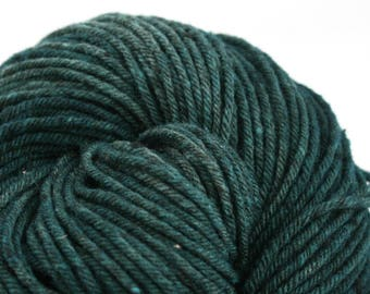 Hand Dyed Aran weight mini Empire Rambouillet Wool 213 yds 4oz Emerald