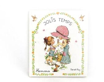 Vintage Sarah Kay Book, Jolis Temps, French Language, Nursery Art Illustrations, Cute Drawings, Paper Ephemera, Livre pour enfants