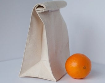 Reusable canvas lunch bag--FREE SHIPPING