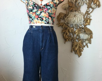 1980s jeans 80s pants high waist jeans size small Vintage jeans Moodys Goose jeans dark denim jeans mom jeans 26 waist