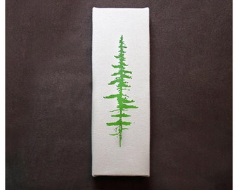 "Pine Tree Print 12"" x 4"" Canvas"