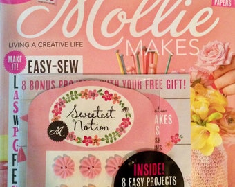 SALE - Mollie Makes Magazine - Colour And Creativity - Issue 79 - With Vintage-Style Buttons - 9.00 Dollars
