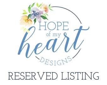 Reserved listing for sweetseptember3