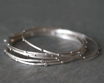 30% OFF WINTER SALE Stack Bangle in Sterling Silver One only