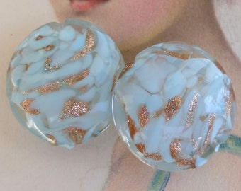 Vintage Glass Beads Adventurine Goldstone